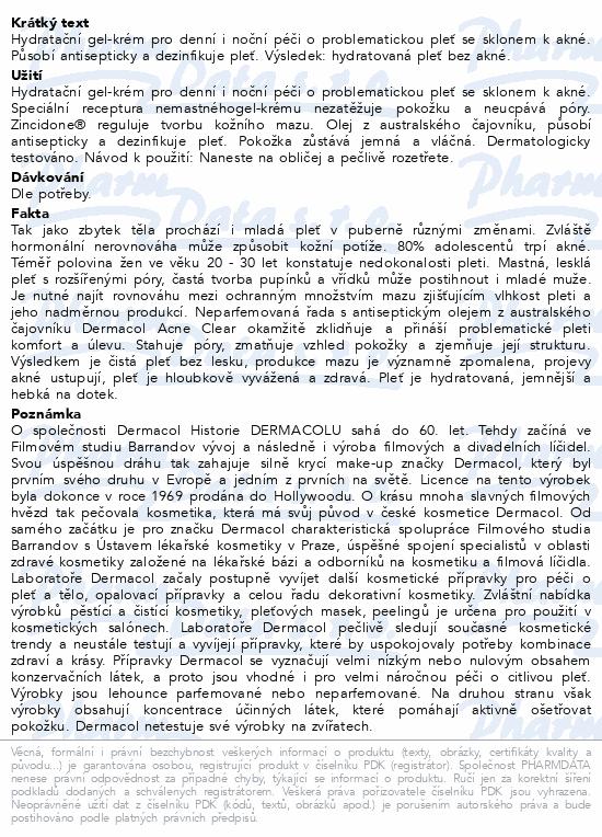 Dermacol Acneclear hydratač.pleť.krém na akné 50ml