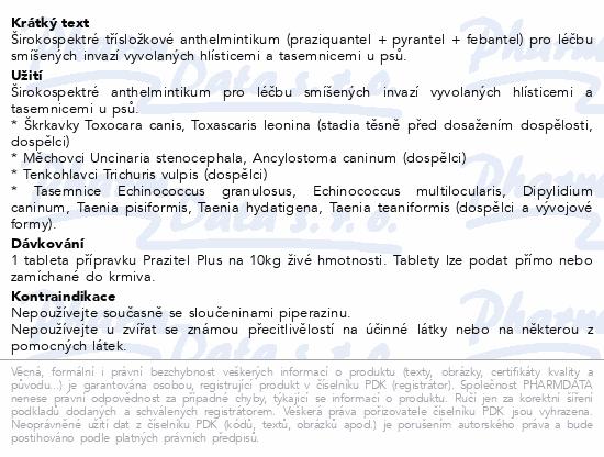 Prazitel Plus vet.bl.104