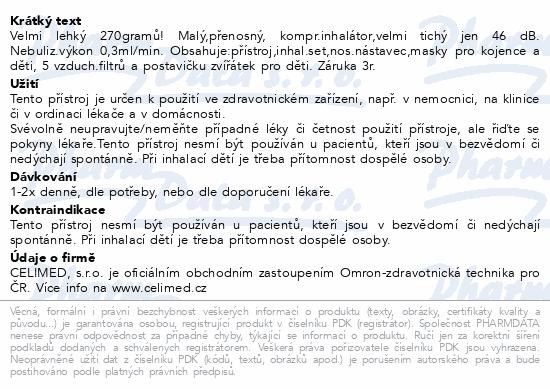 Inhalátor kompres.OMRON C801-KD dětský