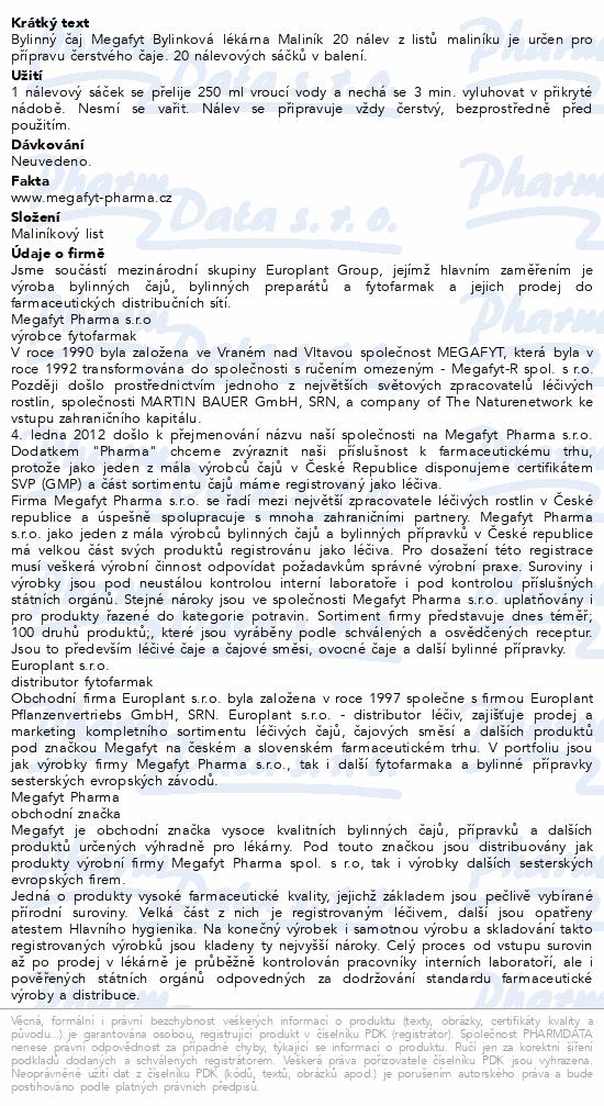 Megafyt Bylinková lékárna Maliník 20x1.5g