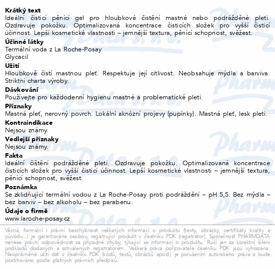LA ROCHE-POSAY EFFACLAR Čisticí gel 400ml
