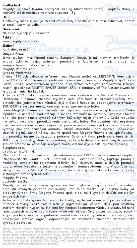 Megafyt Bylinková lékárna Kontryhel 20x1.5g