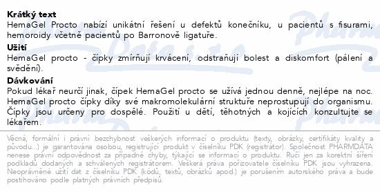 HemaGel PROCTO čípky 5ks