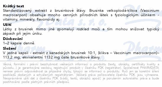 NatureVia Brusinky 1132mg cps.30