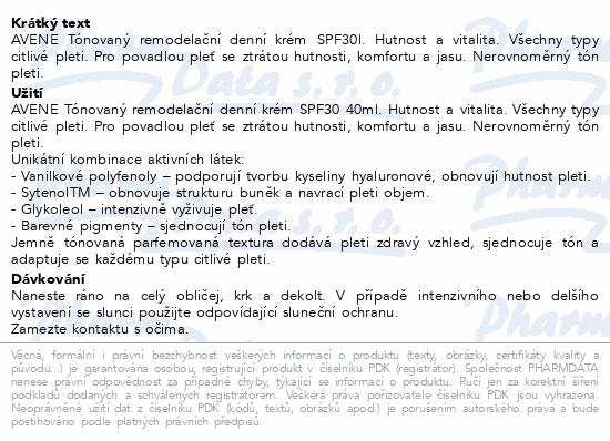 AVENE DermAbsolu tónovaný denní krém SPF30 40ml