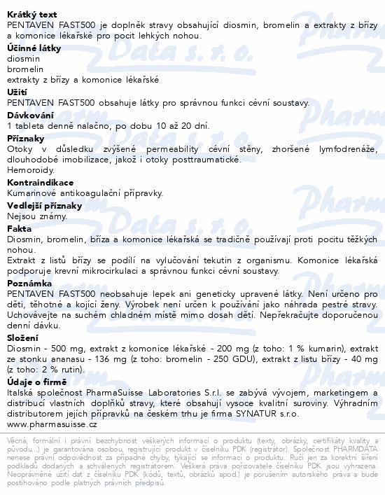 PENTAVEN FAST500 PharmaSuisse tbl. 20
