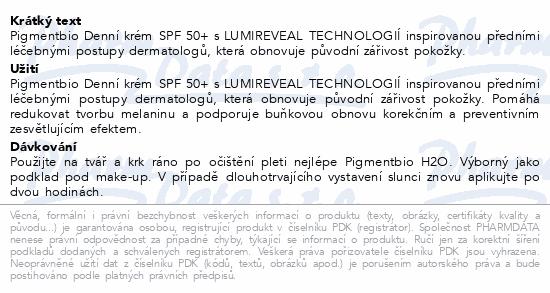 BIODERMA Pigmentbio denní krém SPF 50+ 40ml