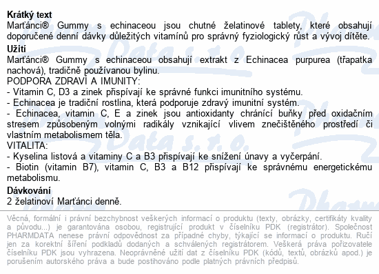 Walmark Marťánci Gummy Echinacea+razítka tbl.50