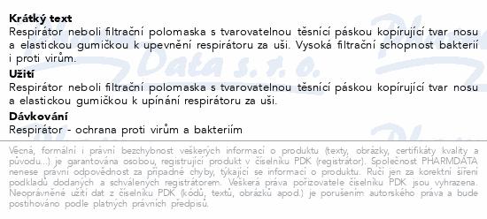 Respirátor GPP2 tř.ochrany FFP2 10ks