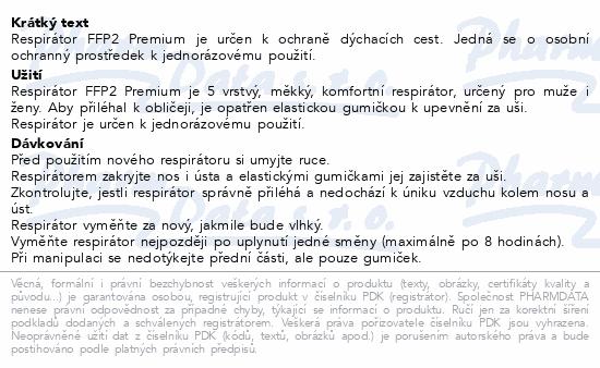 Respirátor FFP2 PREMIUM 5ks