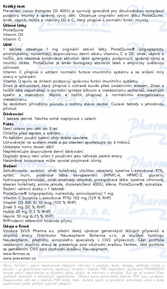 Preventan Junior Komplex D3 400IU tbl.120