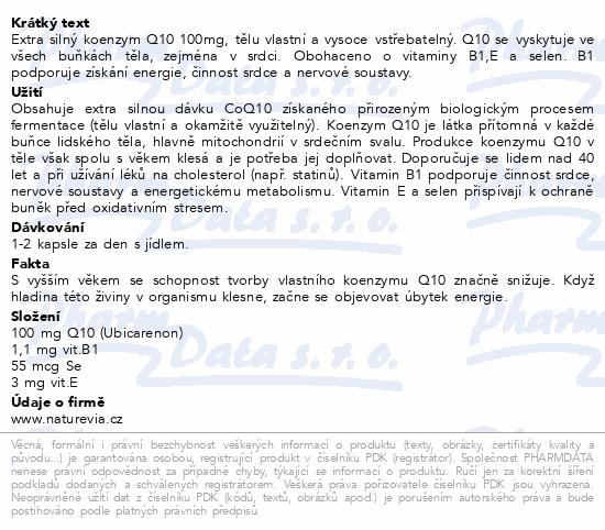 NatureVia Koenzym Q10 Cardio 100mg cps.60