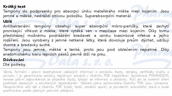 CHICCO Tampony do podprsenky antibakteriální 30ks