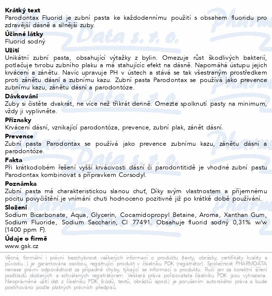 Parodontax Fluoride ZP 75ml