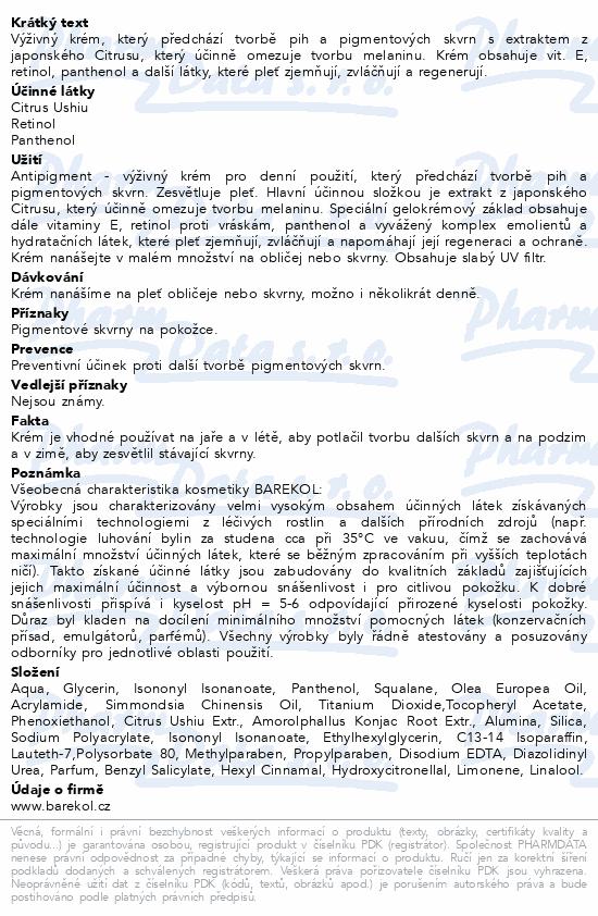 Barekol Antipigment kr.omez.tvorbu pig.skvrn 50ml