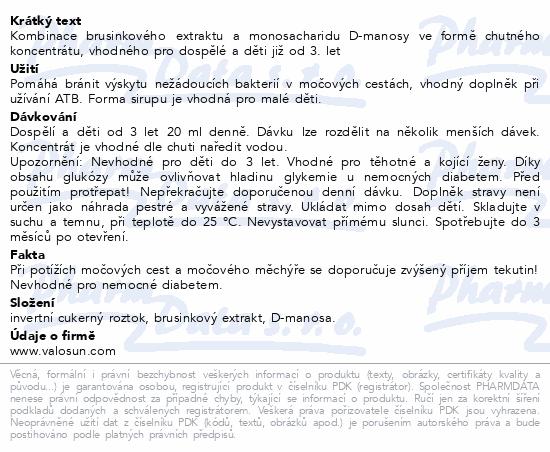 Walmark Uroval MEGA BRUSINKA sirup forte 200ml
