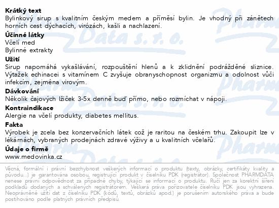 SIRUP BYLINKOVÝ Jitrocel+Echinac.Extra silný 325g