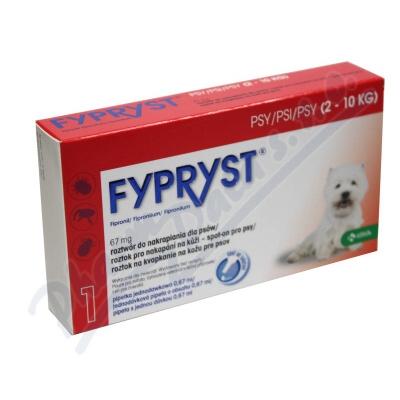 Fypryst Dogs S 1x0.67ml spot-on pro psy