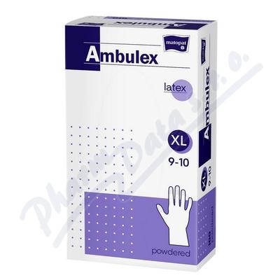 Ambulex rukavice latex.jemně pudr.XL 100