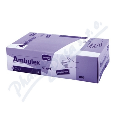 Ambulex Vinyl rukavice nepudr.S 100ks