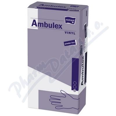 Ambulex Vinyl rukavice nepudr.M 100ks