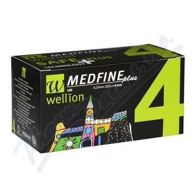 Wellion MEDFINE jehly inz.pera 0.23x4mm 32G 100ks