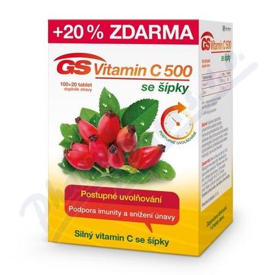 GS Vitamin C500 se šípky tbl.100+20 2016