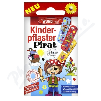 Náplast WUNDmed dětská BOYS-Piráti 10ks