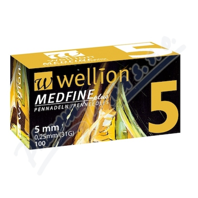 Wellion MEDFINE jehly inz.pera 0.25x5mm 31G 100ks