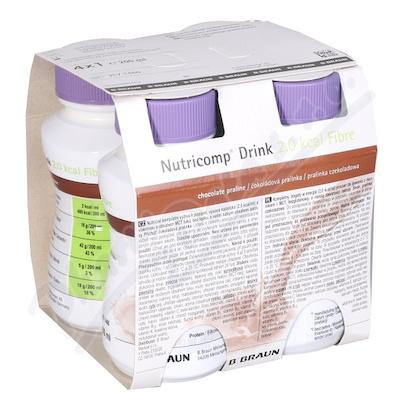 Nutricomp Drink 2.0kcal Fib.čoko.4x200ml