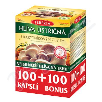TEREZIA Hlíva ústřičná s rakyt.olejem cps.100+100
