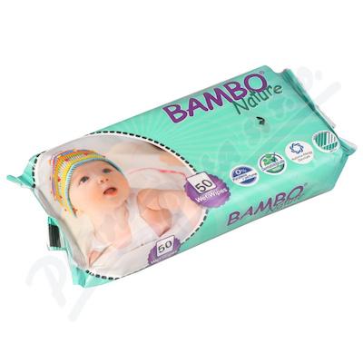 Bambo Nature dětské vlhč.ubrousky 50ks