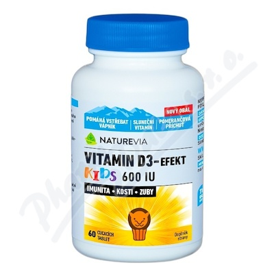 NatureVia Vit.D3-Efekt Kids 60tbl.