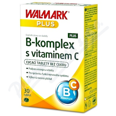W B-komplex PLUS s vitaminem C30tbl.