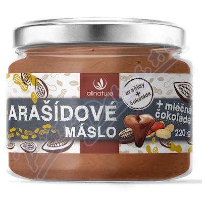 Allnature Arašídové máslo s mléčnou čokoládou 220g