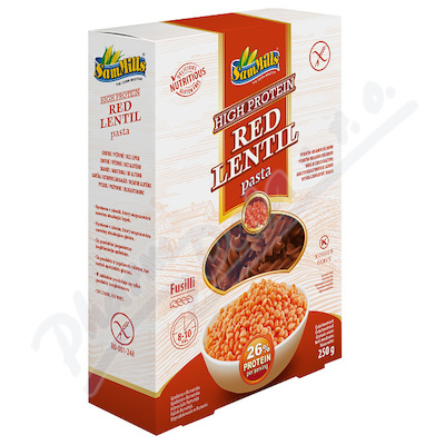 Luštěnin. těstoviny z červené čočky 250g - Vřetena