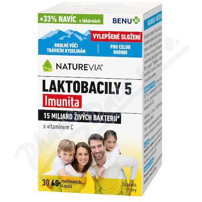 NatureVia Laktobacily 5 Imunita cps.40 Benu