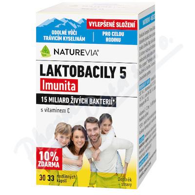 NatureVia Laktob.5 Imun.33 cps.