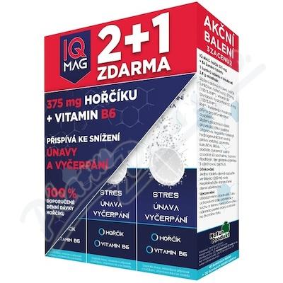 IQ Mag hořčík + B6 šumivé tablety 40+20 zdarma