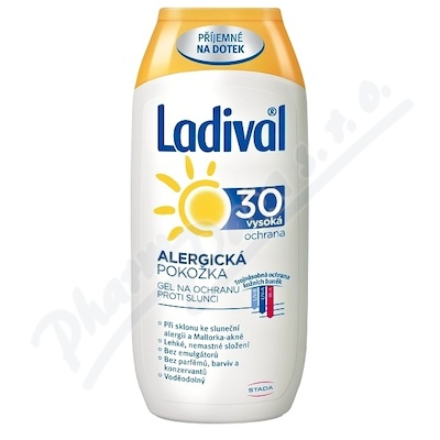 LADIVAL alerg.kůže LSF30 gel 200ml