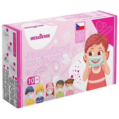 Mesaverde jednorázová obličejová maska růžová 10ks