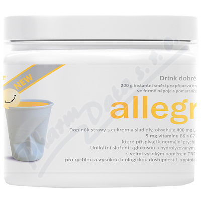 allegra DRINK NEW 200g pomeranč ins.směs
