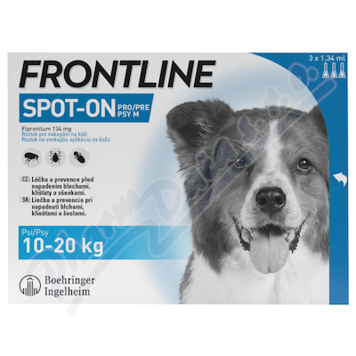Frontline SpOnDog 10-20kg pip.3x1.34ml