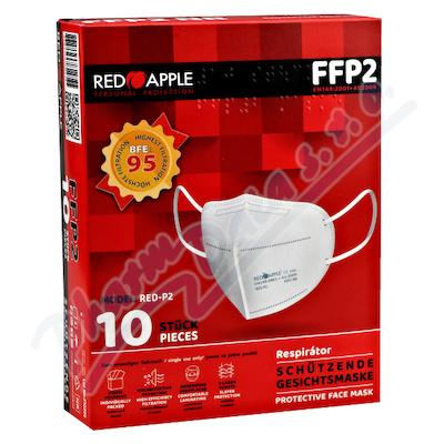 Respirátor FFP2 NR Red Apple 5-vrstvý 10ks