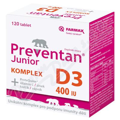 Preventan Junior Komplex D3 400IU 120tbl