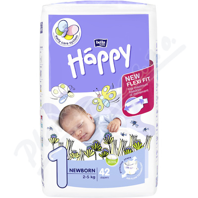 Happy New Born dět.pleny 2-5kg 42ks