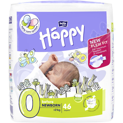 Happy Before New Born dět.pleny 46ks
