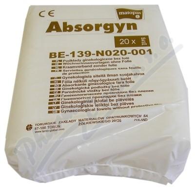 Absorgyn 20 ks porodnické vložky