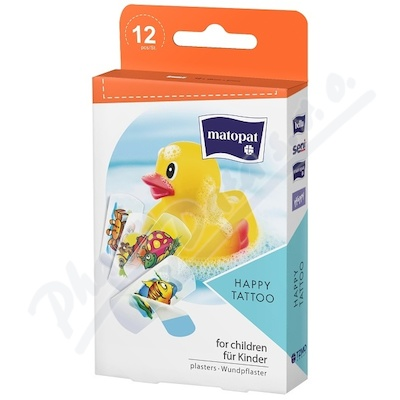 Matopat Happy Tattoo 12 ks náplast