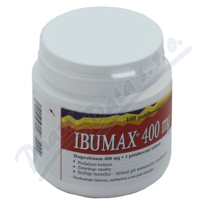 Ibumax 400mg 100tbl.por.flm. Vitabalans